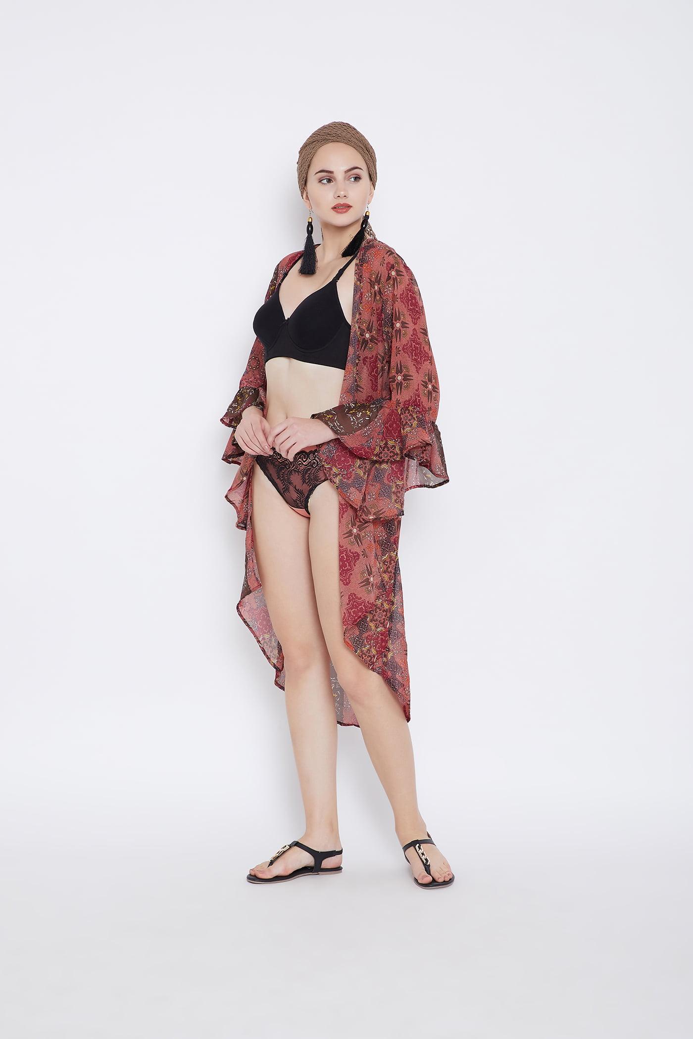 d6cd82d8f180d Oussum - Canyon Rose Beach Cover Ups for Women Beach Swimsuit Digital  Printed Bikini Cover Up Kimono Sleeve Summer Beach Dresses for Women Plus  Size Bathing ...