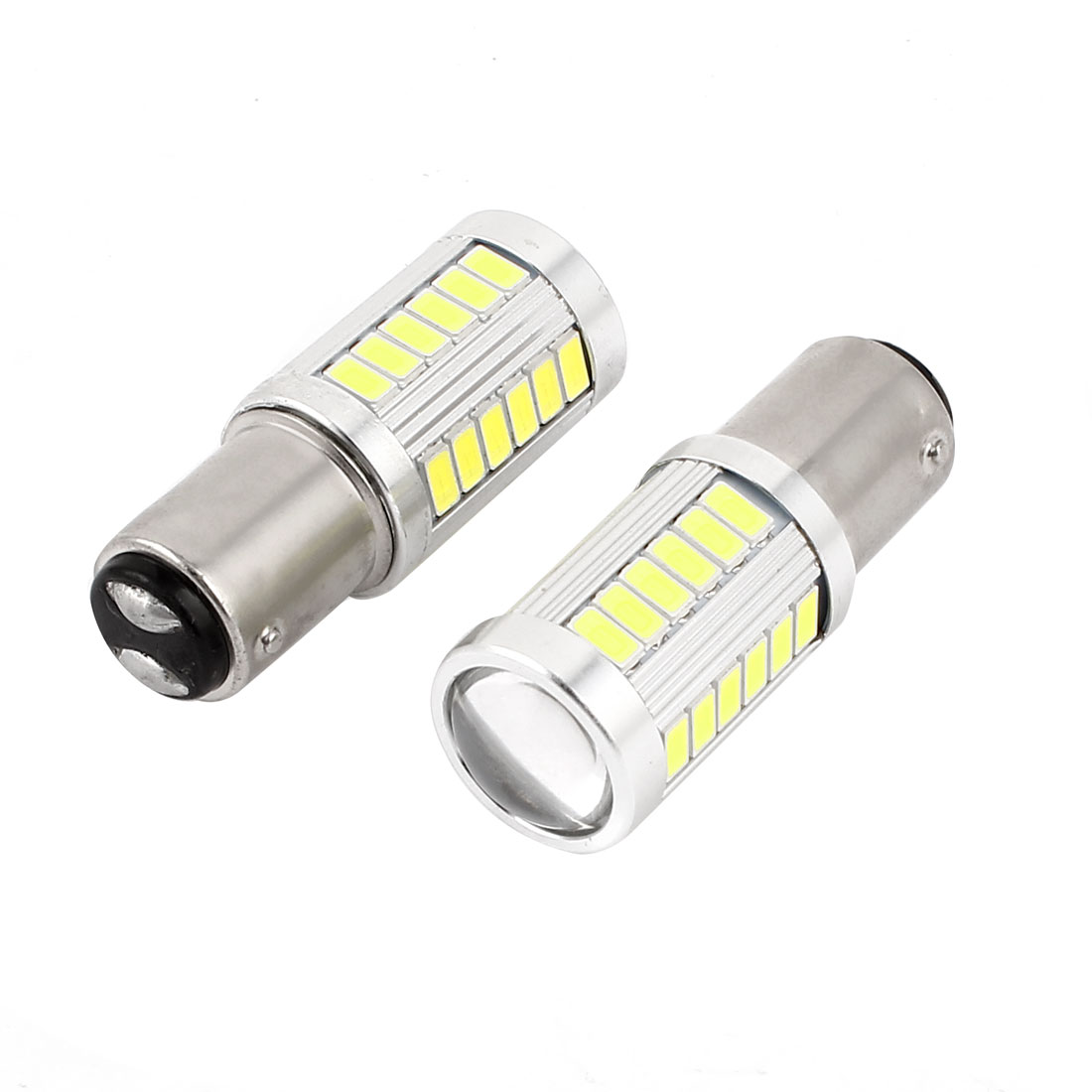 2 Pcs 1157 White 33-LED 5630 SMD Stopping Parking Light Signal Bulb for Car