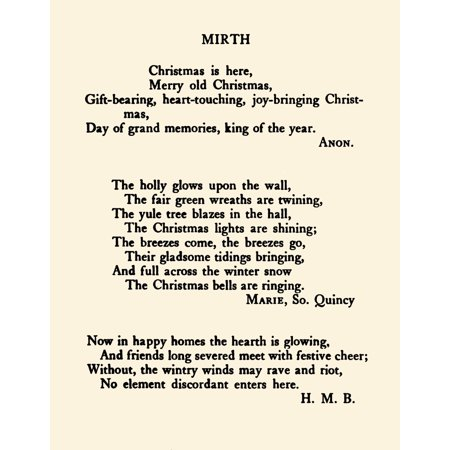 Anon Merry Christmas to you my Friend 1907 Christmas is here et al Stretched Canvas - Anon (18 x
