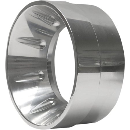 Bassani Manufacturing BE40I Billet End Cap - Inverted Polished - w/Flutes ()