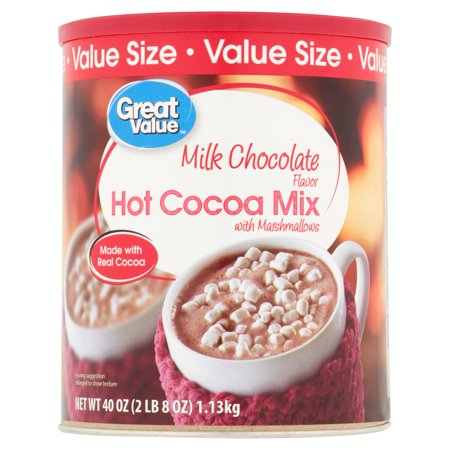 (4 Pack) Great Value Hot Cocoa Mix, Milk Chocolate with Marshmallows, Value Size, 40
