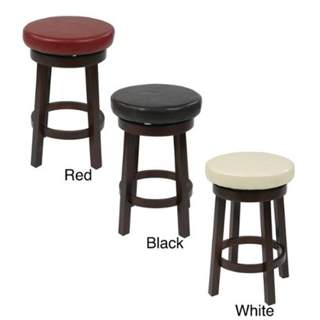 Office Star Products Round Leatherette 24 Inch Bar Stool