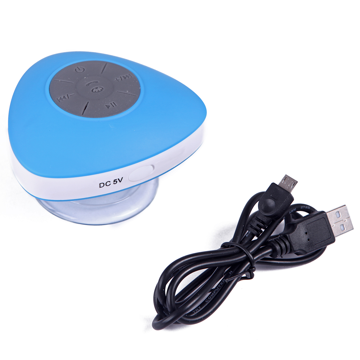 HDE Rechargeable Waterproof Bluetooth Speaker Wireless Streaming Music Player for Shower, Boats, Outdoor (Blue)