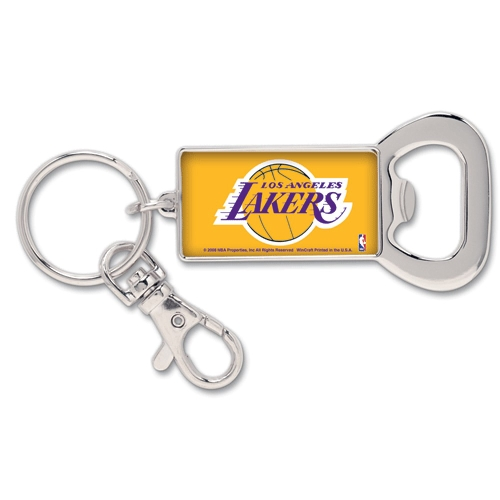 Los Angeles Lakers WinCraft Bottle Opener Key Ring Keychain - No Size