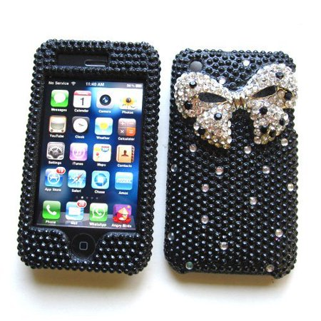 Apple iPhone 3G & 3GS Snap-on Protector Hard Case Rhinestone Cover