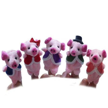Outtop 5 Pcs Finger Even, Storytelling, Good Toys, Hand Puppet for Baby's Gift