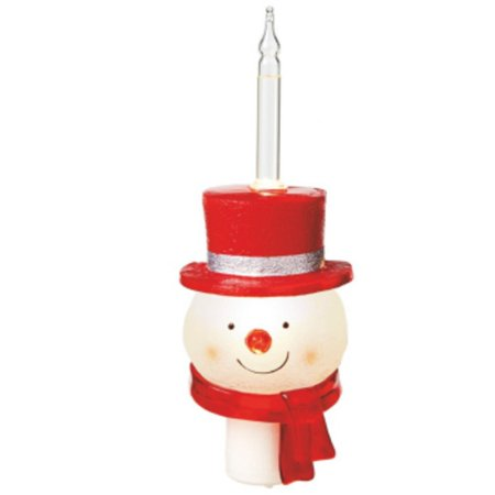 85 smirking snowman with red top hat christmas bubble night light