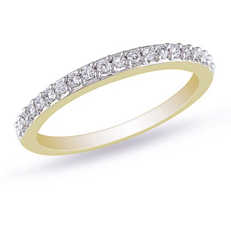 1/4 Carat T.W. Diamond Stackable Ring in 10kt Yellow (Slim Rope Style Stackable Ring)