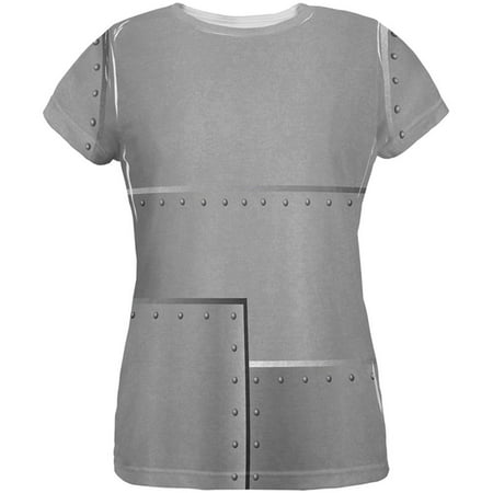 Halloween Robot Rivets Costume Steel All Over Womens T Shirt](Robot Costume Halloween)