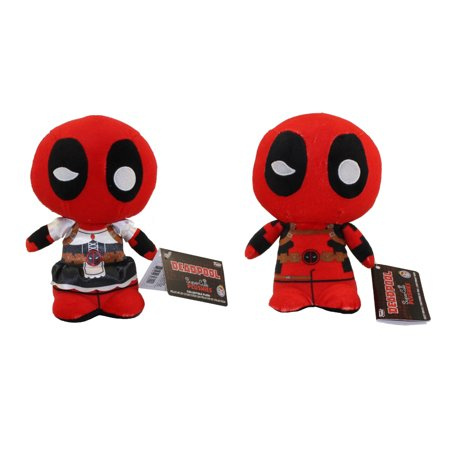 Funko SuperCute Plushies - Deadpool - SET OF 2 DEADPOOLS (Normal & Maid Outfits)](Deadpool Different Outfits)