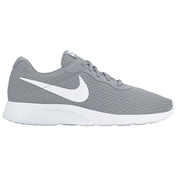 nike tanjun men's shoe (7 m us, wolf grey/white)