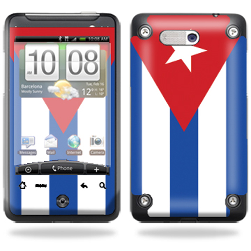 Mightyskins Protective Vinyl Skin Decal Cover for HTC Aria AT&T Cell Phone wrap sticker skins – Cuban flag