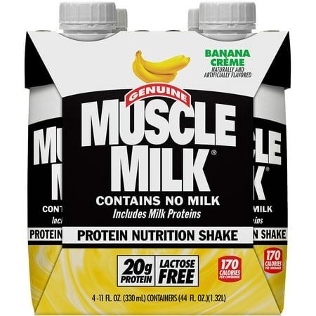 Muscle Milk Banana Creme Protein Nutrition Shakes, 11 fl oz, 4 -