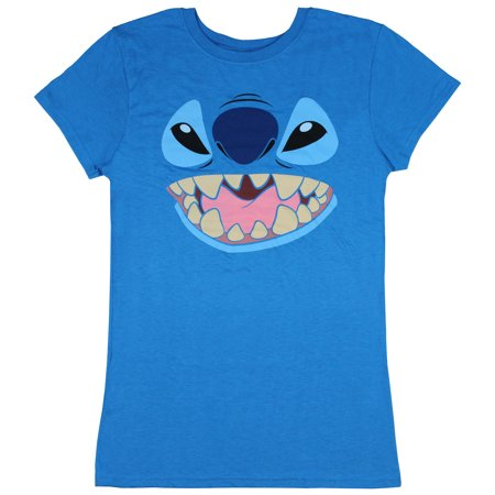 Disney Lilo And Stitch Juniors Stitch Face Character Graphic T-Shirt