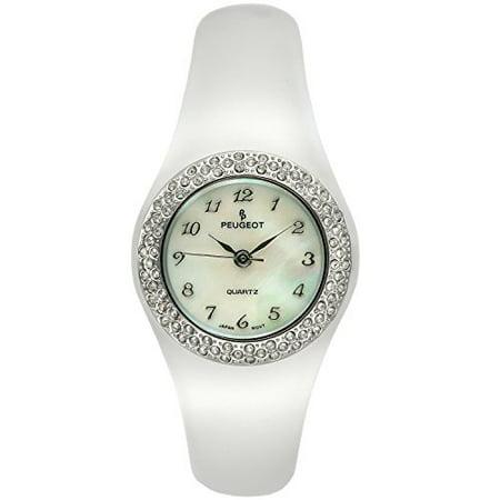 Crystal Bezel Clear Acrylic Bangle Watch