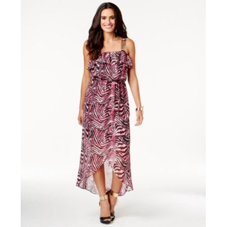 Thalia Sodi Printed Chain-Strap Maxi Dress Size S