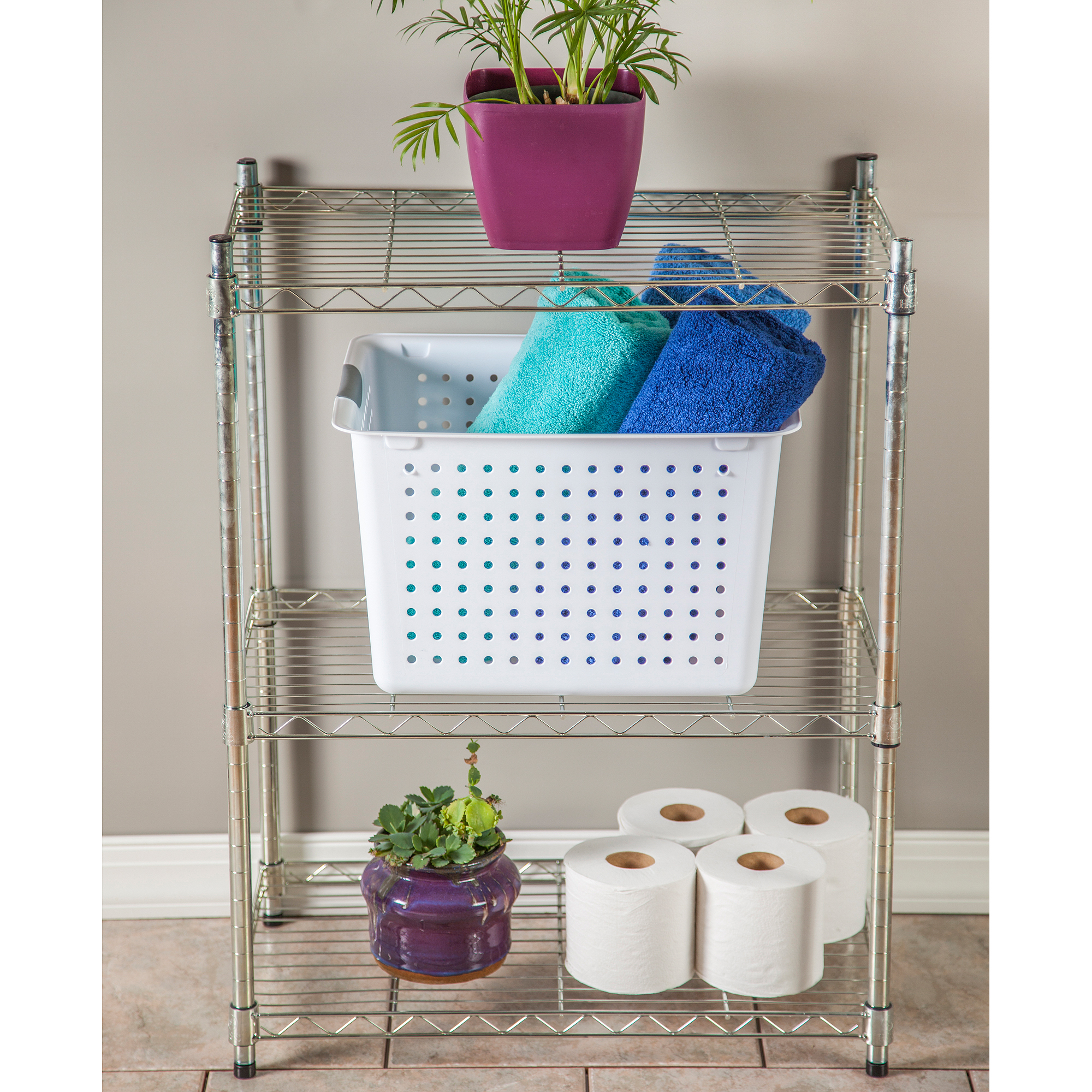 Sterilite Deep Ultra Basket- White, Set of 6