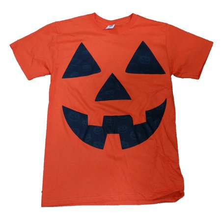 0f73a34f Halloween - Halloween Mens Orange Jack-O-Lantern Pumpkin Graphic T-Shirt -  Walmart.com