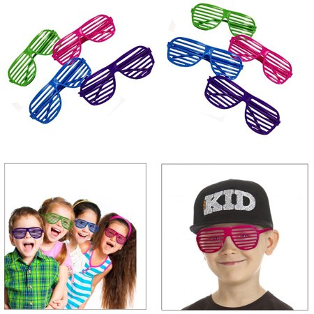 dazzling toys 36 Pack 80's Slotted Toy Sunglasses Party Favors Costume - Pack of 36 - Assorted - Party Sunglasses