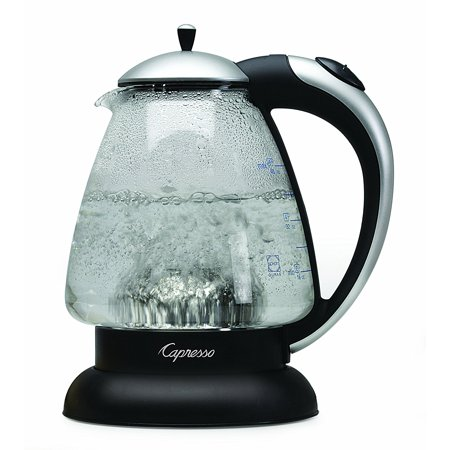 Capresso H2O Plus Water Kettle, Matte Silver, 48-Ounce