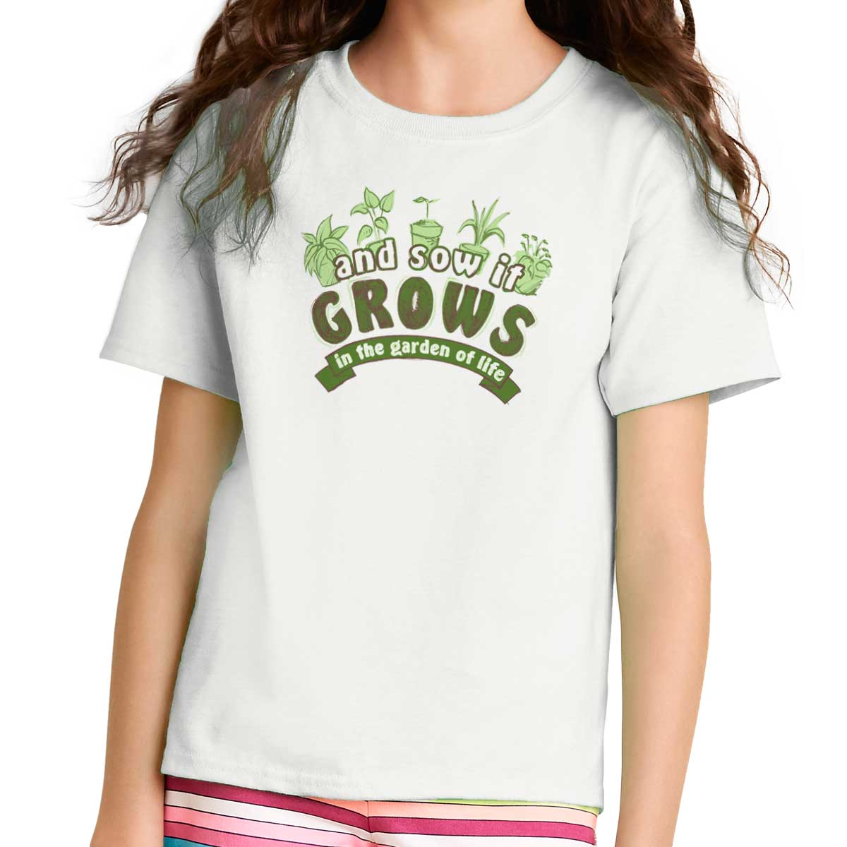 Sow it Grow Garden of Life Funny Shirt | Home Gardening Tools Youth T-Shirt