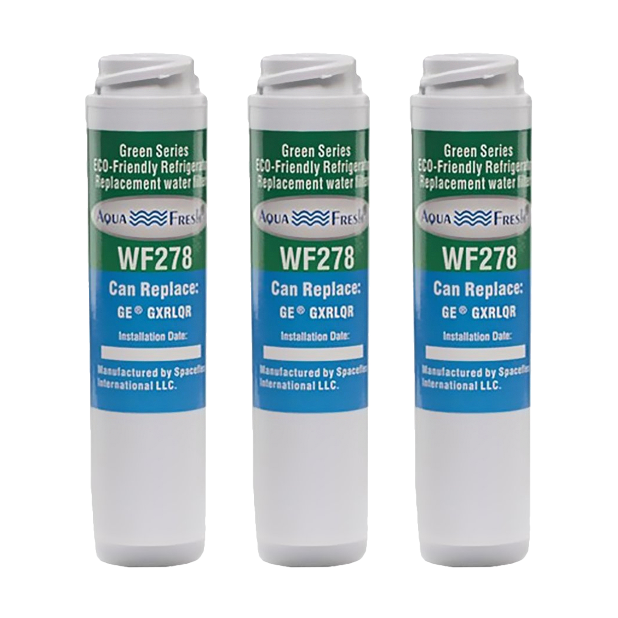Replacement Aqua Fresh WF278 Refrigerator Water Filter For GE Appliance GXRLQR (3 Pack)