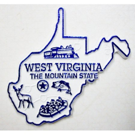 West Virginia The Mountain State Map Fridge