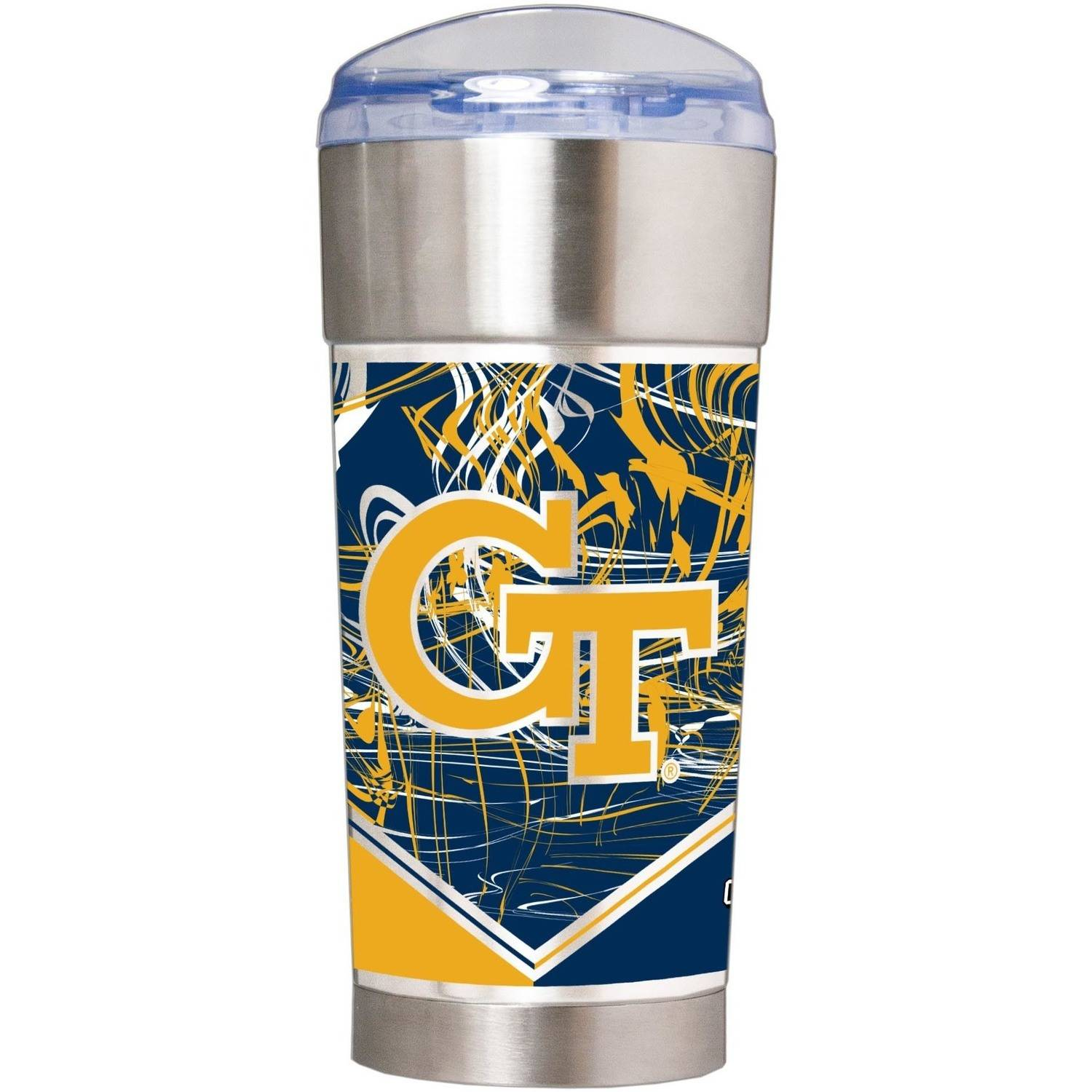 "NCAA Georgia Tech Yellow Jackets ""The EAGLE"" 24 oz Vacuum Insulated Stainless Steel Party Cup by Great American Products"
