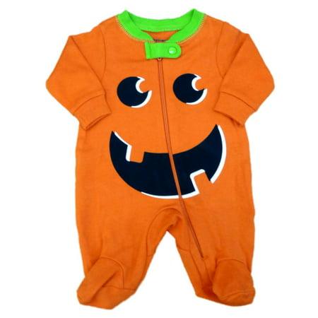 happy halloween infant boys girls orange pumpkin sleeper sleep n play