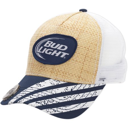 Budweiser - Men s Bud Light Straw Baseball Cap With Bottle Opener -  Walmart.com b7adfdff4e2c