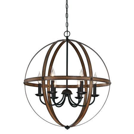 Wrought Iron Six Light Chandelier - Westinghouse 6333600 Stella Mira 6 Light 24