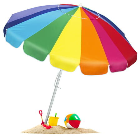 Bcp Tilt Rainbow Beach Umbrella W Carrying Case Amp Anchor