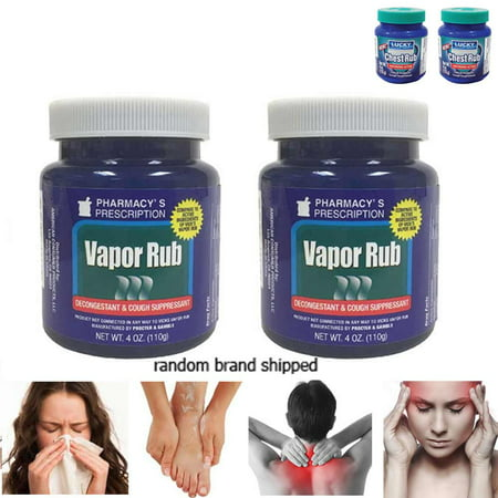 2 Vapor Rub Ointment Vaporize Blocked Nose Cough Nasal Congestion Headache 220g