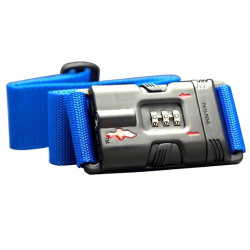 Safe Skies  Blue ABS Nylon TSA-Recognized Locking Luggage Strap