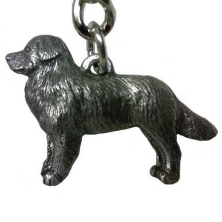 Bernese Mountain Dog George Harris Pewter Keychain