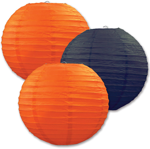 "Halloween Assorted Colors Paper Lanterns - 9.5"" Case Pack 6"