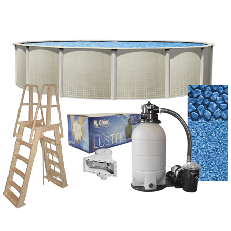 Impressions Round Above-Ground Swimming Pools   Full Start-Up Kit {Choose Size}