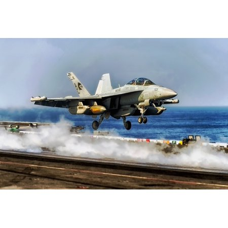 LAMINATED POSTER Ocean Sea Fighter Aircraft Carrier Us Navy Jet Poster Print 11 x -