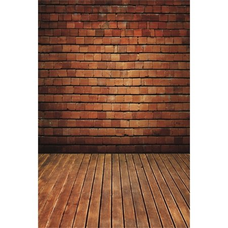 GreenDecor Polyster 5x7ft Photography Studio Backdrops Girl Toddler Photo Shoot Background Brick Wall Hardwood Floors Adult Kid Artistic Portrait Digital Video Props Scene (Hardwood Floor For Photography)