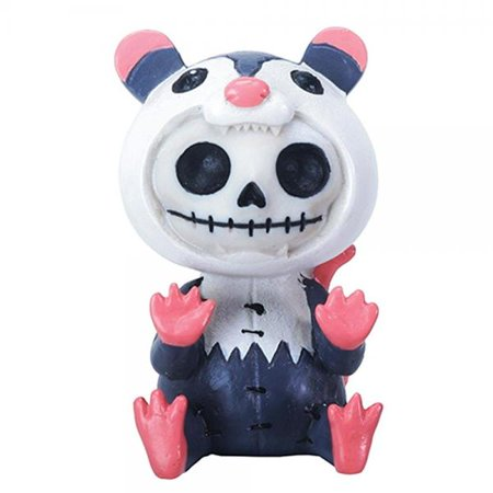 Furrybones Awesome Skeleton in Possum Costume Halloween Figurine - Awesome Halloween
