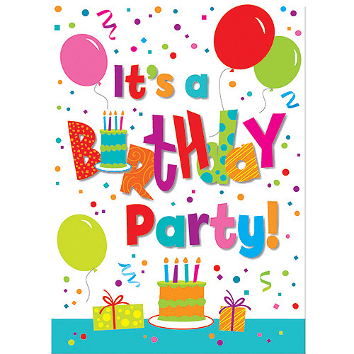 Birthday Jamboree Invitations, 8pk