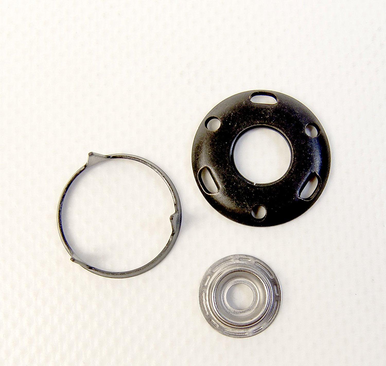 Snap Stud /& Mounting Screw Included Veltex Black Finish Carpet Fastener