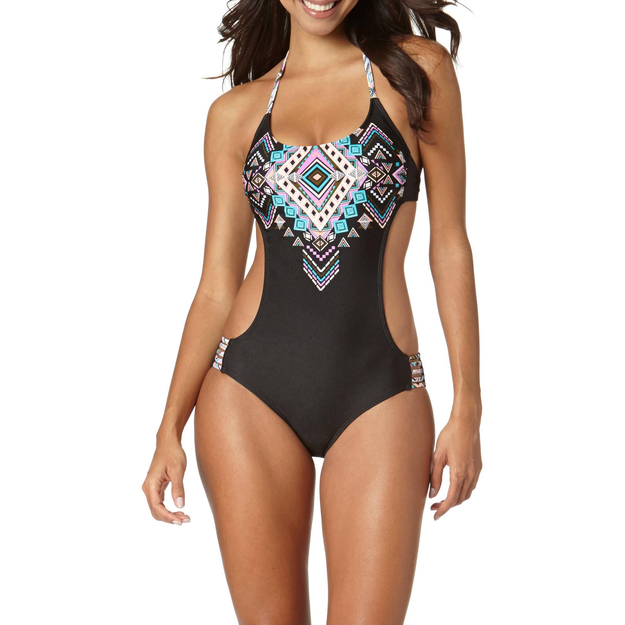 Op Juniors Swim Southwest Macrame Monokini One-Piece Swimsuit ...