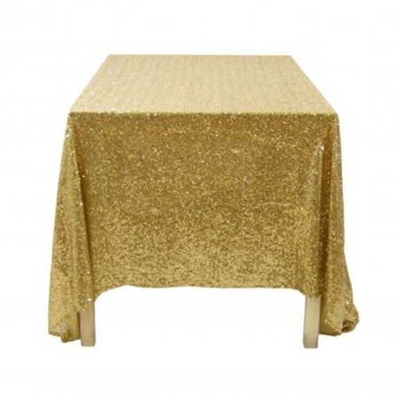 Tryandtry 100*150cm Rectangular Sequin Tablecloth Glitter Gold Sequin Table Cloth Polyester Wedding Party Event Decor
