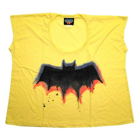 Junk Food Batman (Batman Logo Painted DC Comics Junk Food Womens Soft)