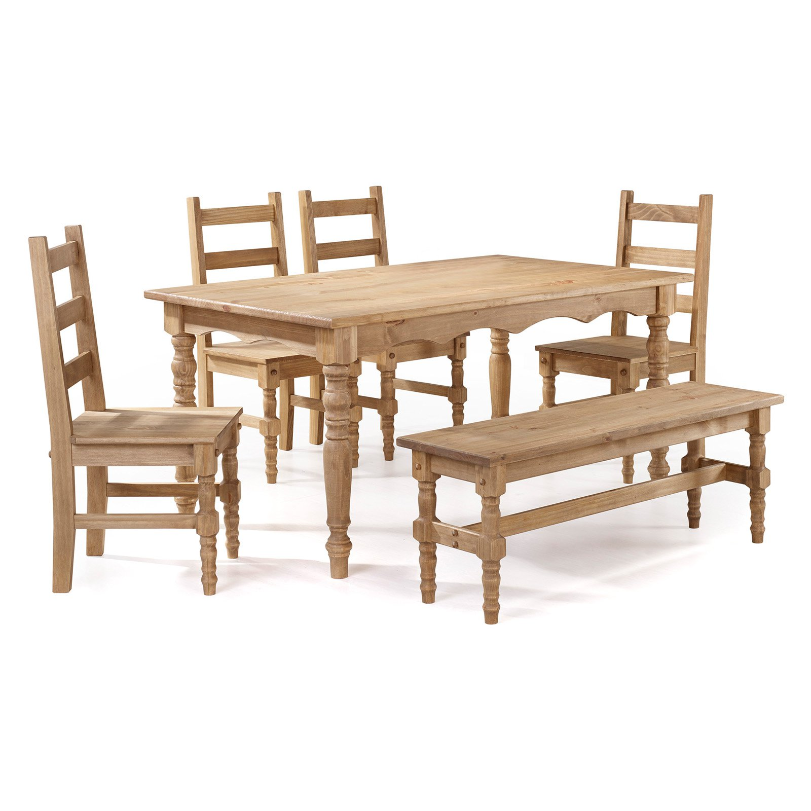 Manhattan Comfort Jay Dining Table Set with 1 Bench and 4 Chairs