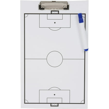 Soccer Clipboard - Erasable White Board - Great For Coaches By Trademark (Coaching Board)