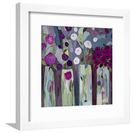 Que Sera Sera Purple Flowers Framed Print Wall Art By Carrie Schmitt ()