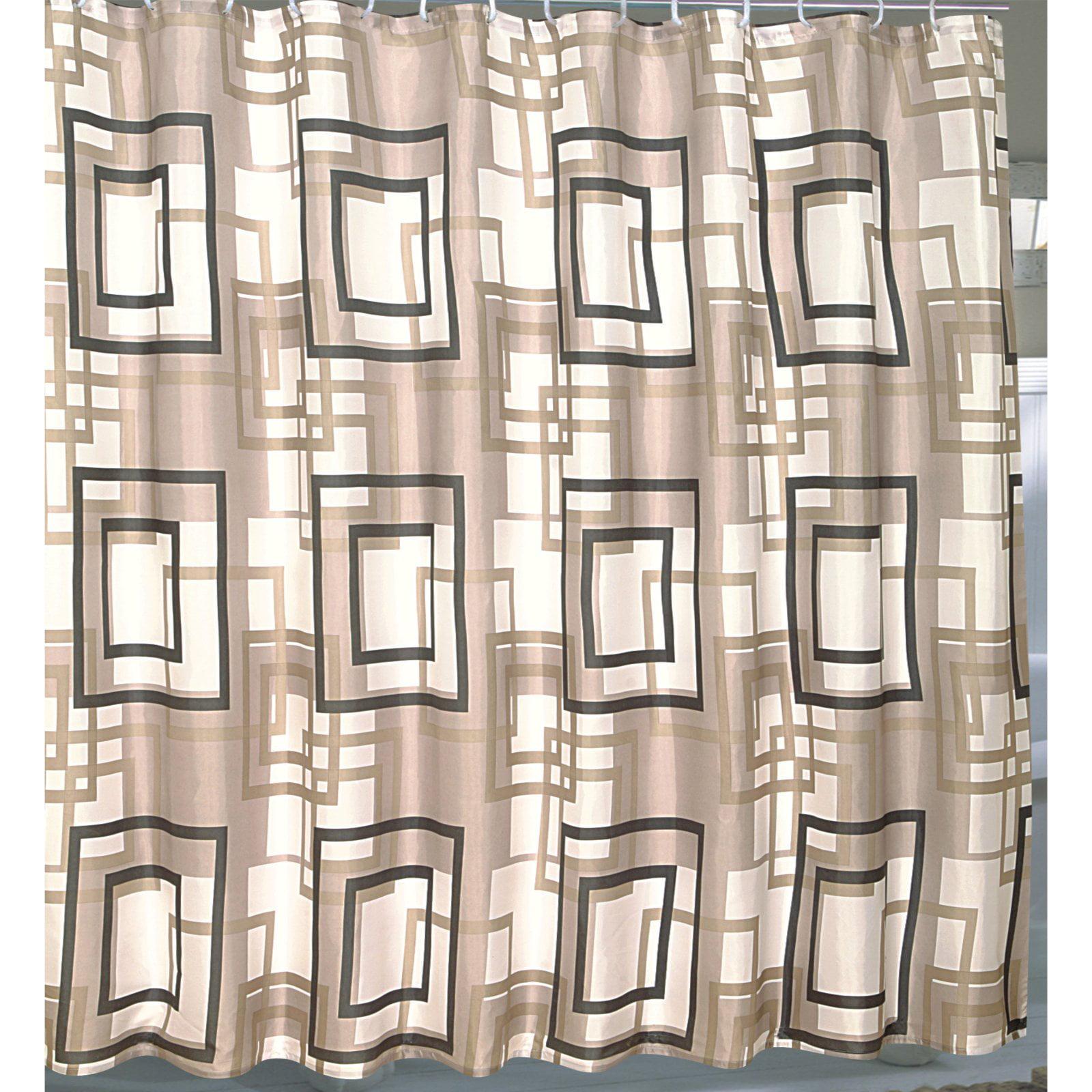 "Extra Wide ""Lexington"" Fabric Shower Curtain"