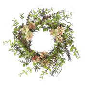 Northlight Seasonal 24'' Artificial Hen and Chick with Mixed Foliage Wreath